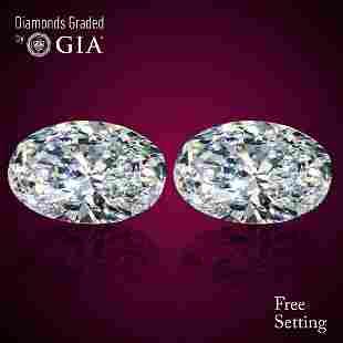 402 ct Oval cut Diamond Pair