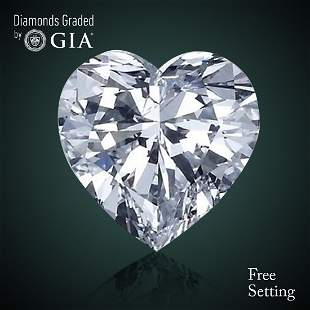 209 ct Color GVVS2 Heart cut Diamond