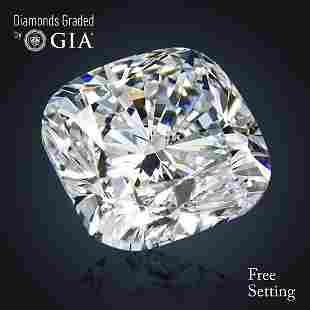 402 ct Color GVS2 Cushion cut Diamond