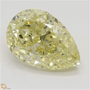323 ct Brn YellowVVS2 Pear cut Diamond