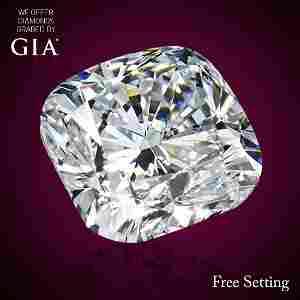 3.03 ct, Color F/IF, Cushion cut Diamond