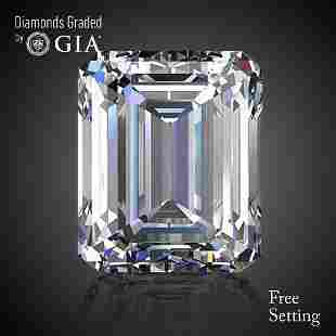 401 ct Color GVVS2 Emerald cut Diamond
