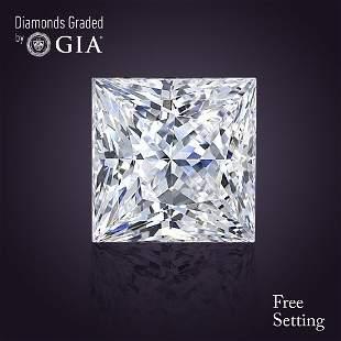302 ct Color EVVS2 Princess cut Diamond
