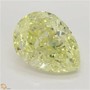 1502 ct Lt YellowVS2 Pear cut Diamond