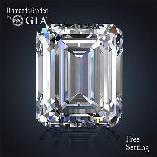 504 ct Color EFL Emerald cut Diamond