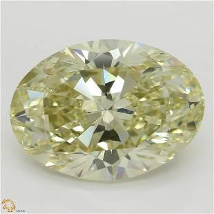 1145 ct YellowVS1 Oval cut Diamond