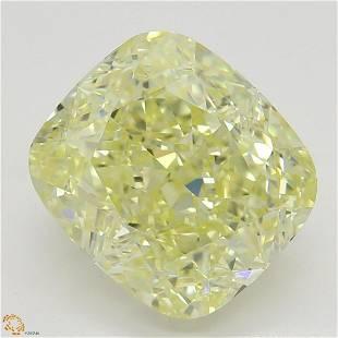 302 ct YellowVVS1 Cushion cut Diamond