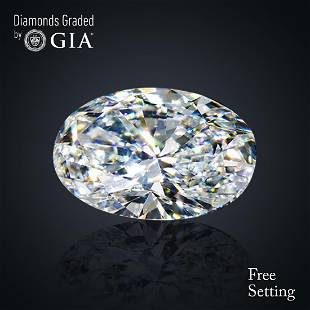 401 ct Color DVVS2 Oval cut Diamond
