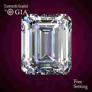 401 ct Color IVVS2 Emerald cut Diamond