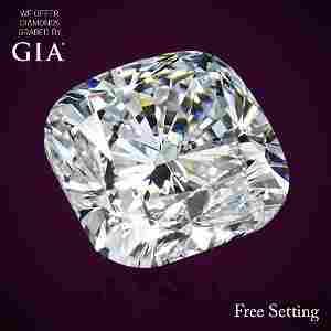 3.01 ct, Color D/IF, Cushion cut Diamond