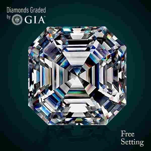 2.01 ct, Color D/VVS2, Sq. Emerald cut Diamond