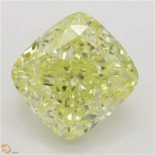323 ct YellowVS2 Cushion cut Diamond