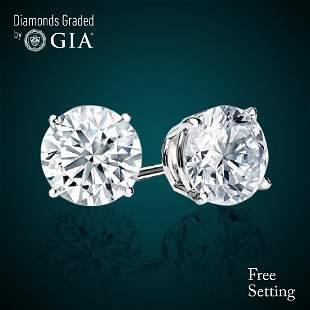 433 ct Round cut Diamond Pair