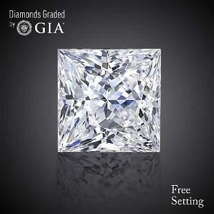 306 ct Color GVS1 Princess cut Diamond