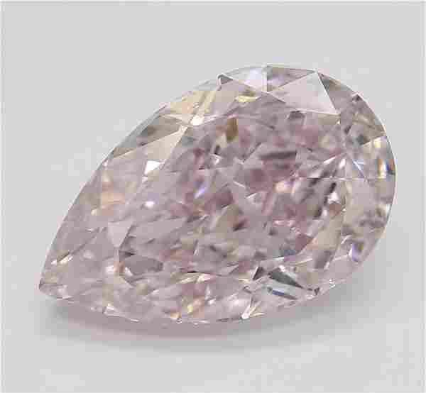2.02 ct, Purple Pink/VS2, Pear cut Diamond