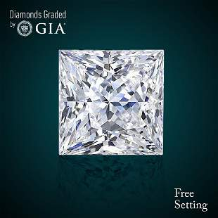 404 ct Color EVVS2 Princess cut Diamond