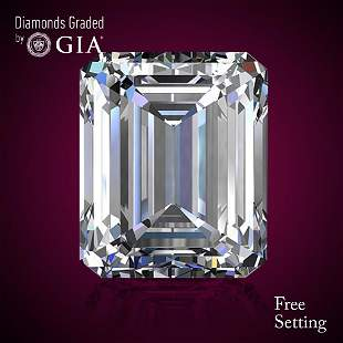 335 ct Color HIF Emerald cut Diamond