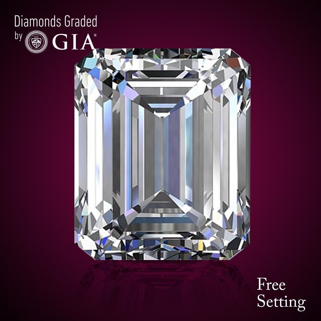 3.35 ct, Color H/IF, Emerald cut Diamond