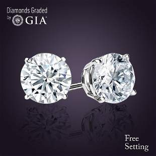 402 ct Round cut Diamond Pair