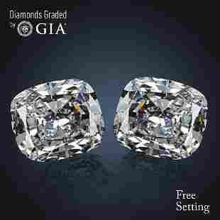 402 ct Cushion cut Diamond Pair