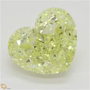 520 ct YellowVVS2 Heart cut Diamond