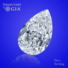 5.64 ct, Color F/FL, Pear cut Diamond