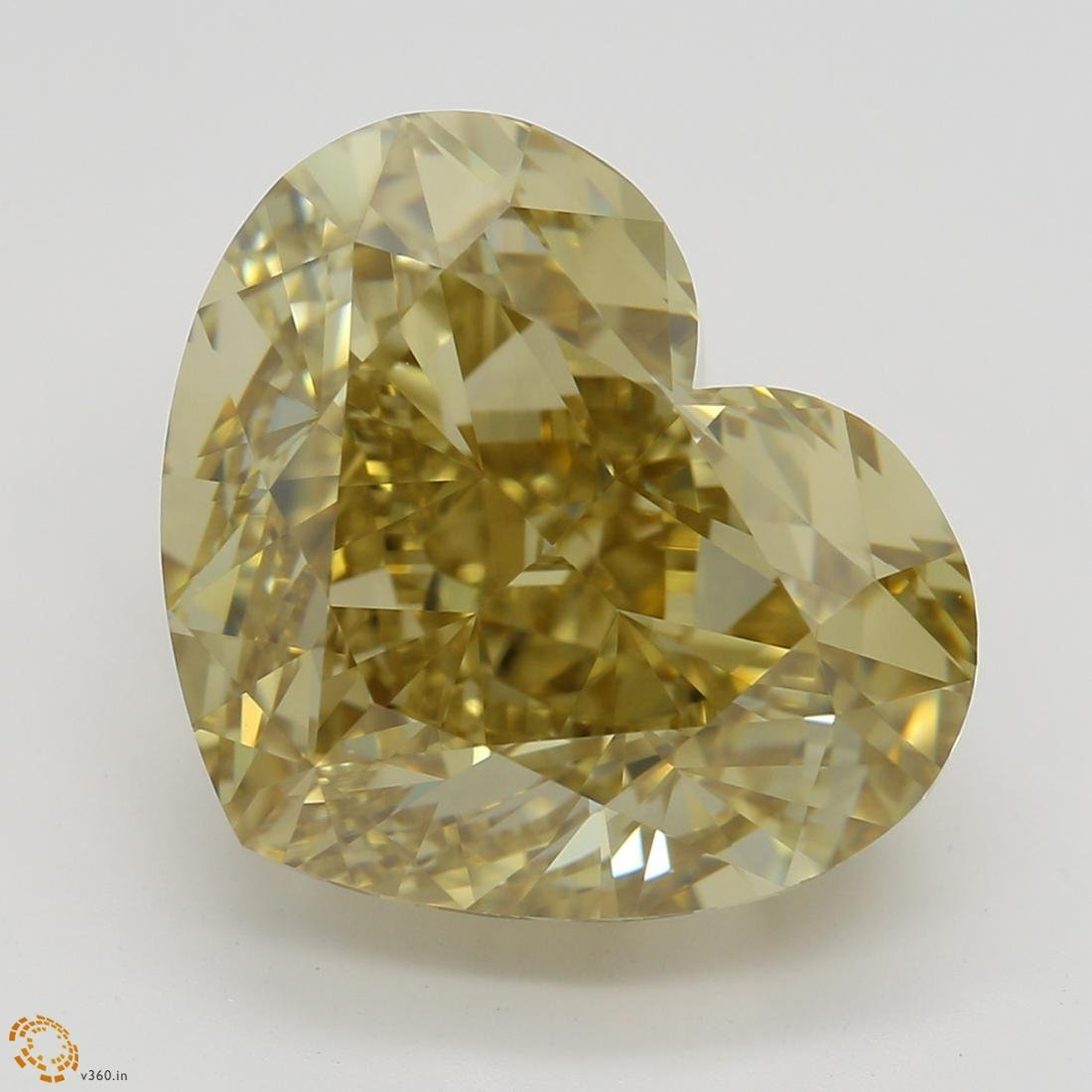8.08 ct, Brown Yellow/VVS1, Heart cut Diamond