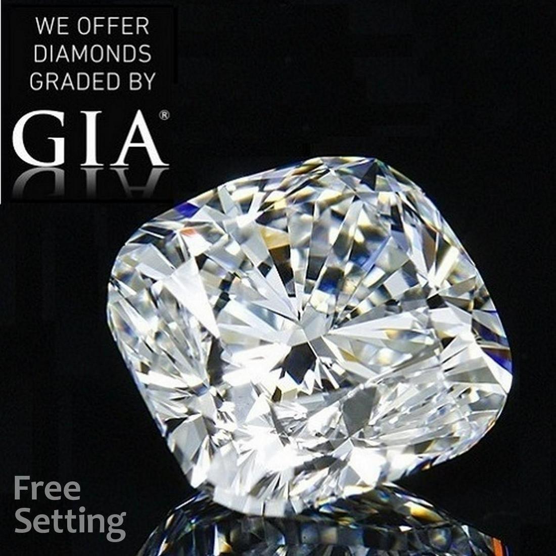 3.01 ct, Color I/IF, Cushion cut Diamond