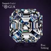 1.00 ct, Color D/VVS2, Sq. Emerald cut Diamond