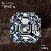 3.61 ct, Color F/VS2, Sq. Emerald cut Diamond