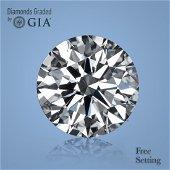 4.05 ct, Color H/VS1, Round cut Diamond