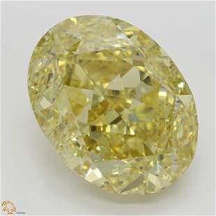 2080 ct Brn YellowVS2 Oval cut Diamond