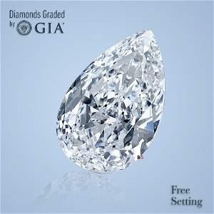 1.02 ct, Color D/VVS1, Pear cut Diamond