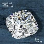3.03 ct, Color D/VVS1, Cushion cut Diamond