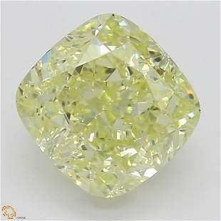 251 ct Lt YellowVS1 Cushion cut Diamond