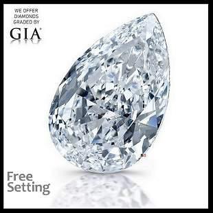 101 ct Color EVVS1 Pear cut Diamond