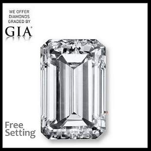 156 ct Color DIF Emerald cut Diamond