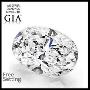 5.01 ct, Color H/VVS1, Oval cut Diamond