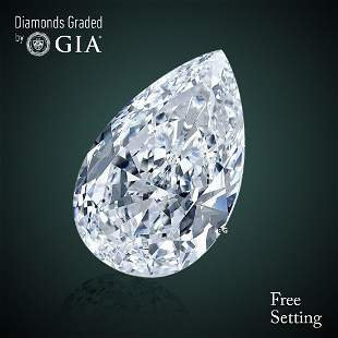 100 ct Color DVVS2 Pear cut Diamond