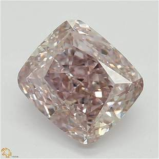 107 ct Brn PinkVS1 Cushion cut Diamond