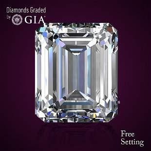201 ct Color GVVS1 Emerald cut Diamond