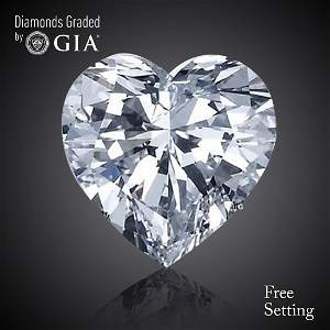 1.00 ct, Color E/VVS2, Heart cut Diamond