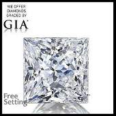 3.07 ct, Color D/VS2, Princess cut Diamond