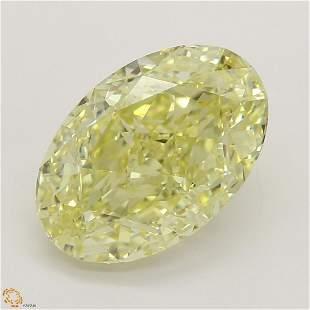 3.04 ct, Yellow/IF, Oval cut Diamond