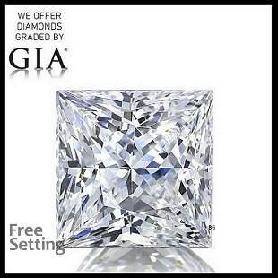4.21 ct, Color H/VS1, Princess cut Diamond