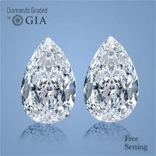 6.03 ct Pear cut Diamond Pair