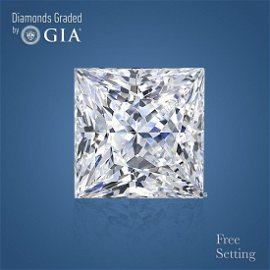 3.03 ct, Color I/IF, Princess cut Diamond