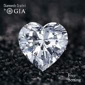 3.01 ct, Color E/VVS2, Heart cut Diamond