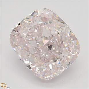 2.72 ct, Lt. Pink/VVS1, Cushion cut Diamond
