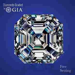 4.03 ct, Color F/VS1, Sq. Emerald cut Diamond